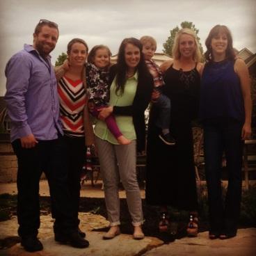 Cousins (minus Kyle)! Austin, Janelle, Olivia, me, Owen, Bailey and Krista.