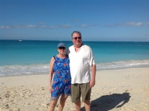 Cerelle and John. Turks and Caicos February 2013.