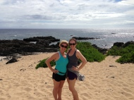 My mom and I at Kaena Point.
