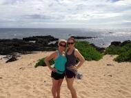 My mom and I at Kaena Point.