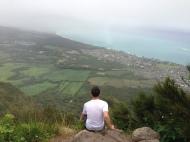 Josh at the top of Mariner's Ridge enjoying the view.