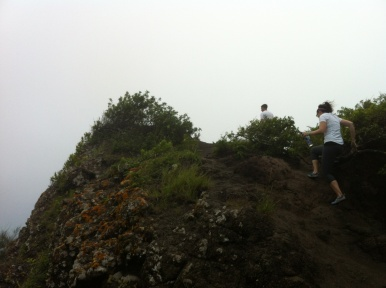 Josh and I hiking to the top of Mariner's Ridge.