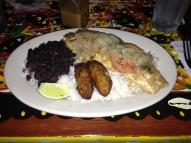 Josh's dinner: pargo a la cubana