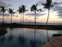 The view of the pool and the beach at Wailea Beach Villas.