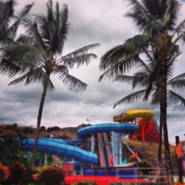 Some of the water slides
