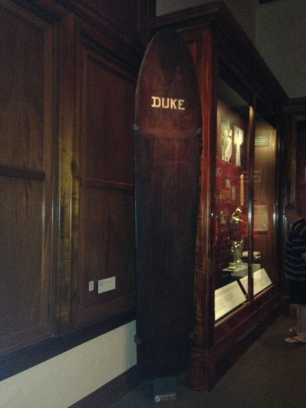 Duke Kahanamoku's surf board.
