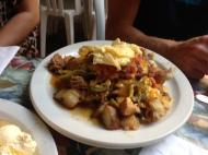 Skillet breakfast.