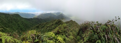 Hiking into the clouds!