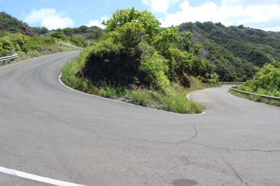 An example of the many hairpin turns!
