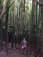 Bailey in the bamboo forest.
