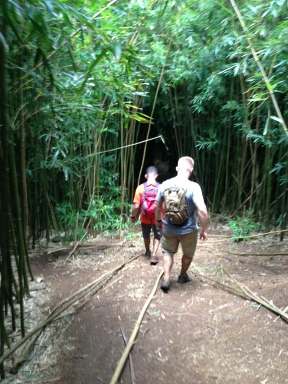 Josh and Tony in the bamboo forest.
