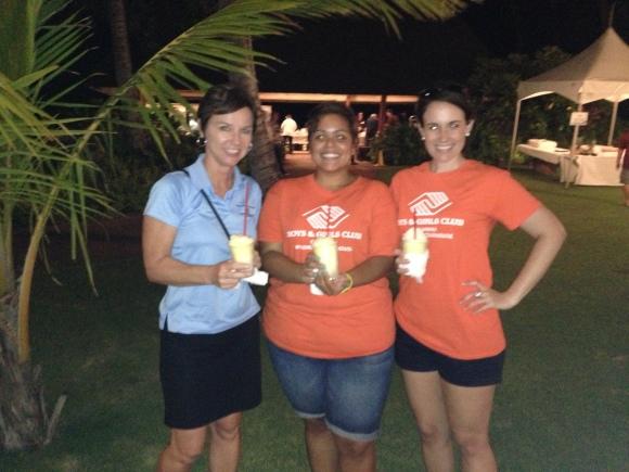 Maureen, Jenn and I enjoying our shave ices!