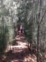 Josh hiking along.