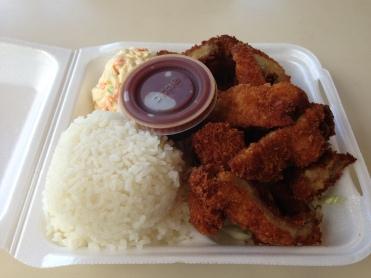 Delicious chicken katsu!