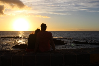 Becca and Ben enjoying the sunset.