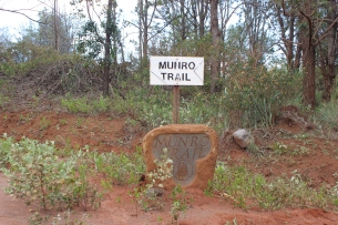 The Munro trail marker at the end.