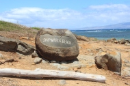 The sign before Shipwreck Beach. I love this picture.