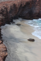 Small beach.