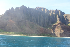 Kalalau beach. Much prettier than when we hiked to it.