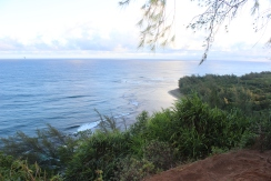 View of Ke'e beach (where we began the hike).