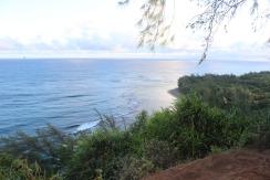 View of Ke'e beach (where we began the hike).