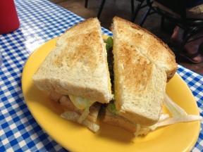 Breakfast sandwich from Blue Ginger Cafe.