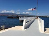 The USS Utah memorial.