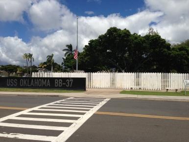 USS Oklahoma memorial.