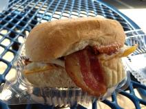 Bacon and Egg breakfast sandwich.