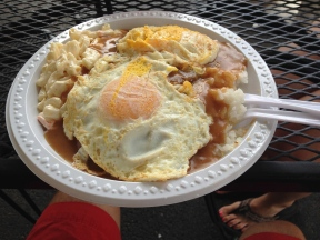 Loco moco plate lunch.