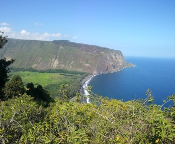 Panoramic of Waipio Valley.