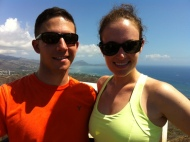 Josh and I at the top of Diamond Head.
