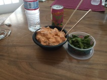 Edamame and poke, never gets old.