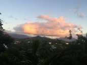 Evening view looking towards the Ko'olau mountains.