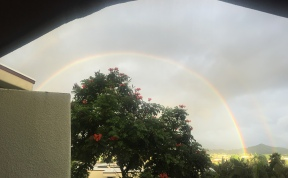 Rainbow off our lanai.