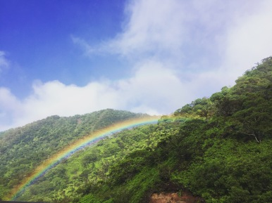 Rainbow on our drive.