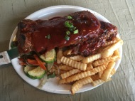 BBQ ribs with homemade guava sauce (unreal..my absolute favorite)