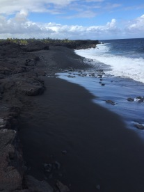 Such a pretty black sand beach.