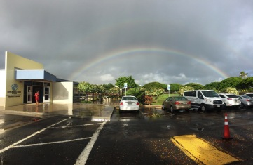 A double rainbow to start our day!
