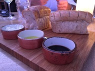 Bread and dipping items