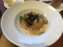Chicken Donburi: Parmesan Risotto, Portobello Mushrooms, Green Onions