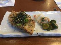 Mochi Crusted Kona Kampachi with Yuzu Kosho Soy Vinaigrette
