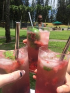 Blueberry, strawberry, raspberry mojitos!