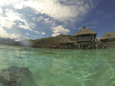 View of our bungalow from the water.