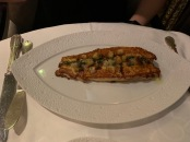 Dover sole with lemon caper sauce.