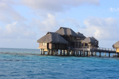 Overwater bungalow mansions. These were insane!