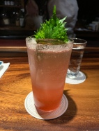 Red Shiso Smash: Nikka Taketsuru Pure Malt, Fresh Lemon Juice, Micro Red Shiso, Yuzu, Soda