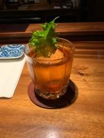 Imperial Old Fashioned: Suntory Toki, Hakushu 12 year, Wasanbon Sugar, Angostura Bitters, Lilikoi, Shiso Essence