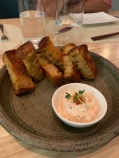 Sourdough Focaccia with Smoke Salmon Mousse & Ikura