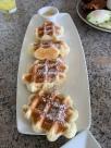 Mochi Waffles with Lilikoi Sauce